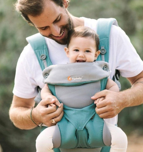 e4cb102d2a3 Ergobaby Cool Air 360 Four Position Baby Carrier Icy Mint Earthmother.ie